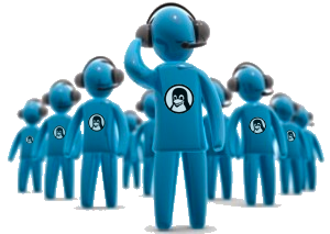 Call Agents with Linux Belgium Logos